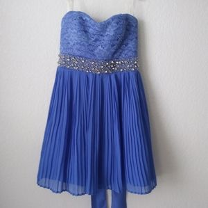 My Michelle Prom Mini Dress 5 Blue Strapless